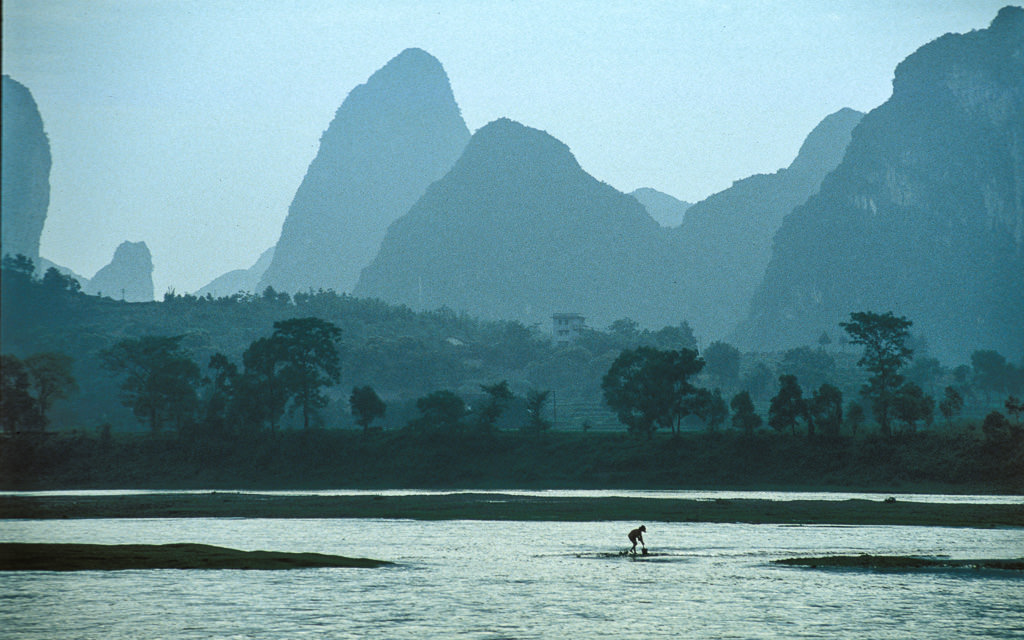 Fishing in the Lijiang River Guilin