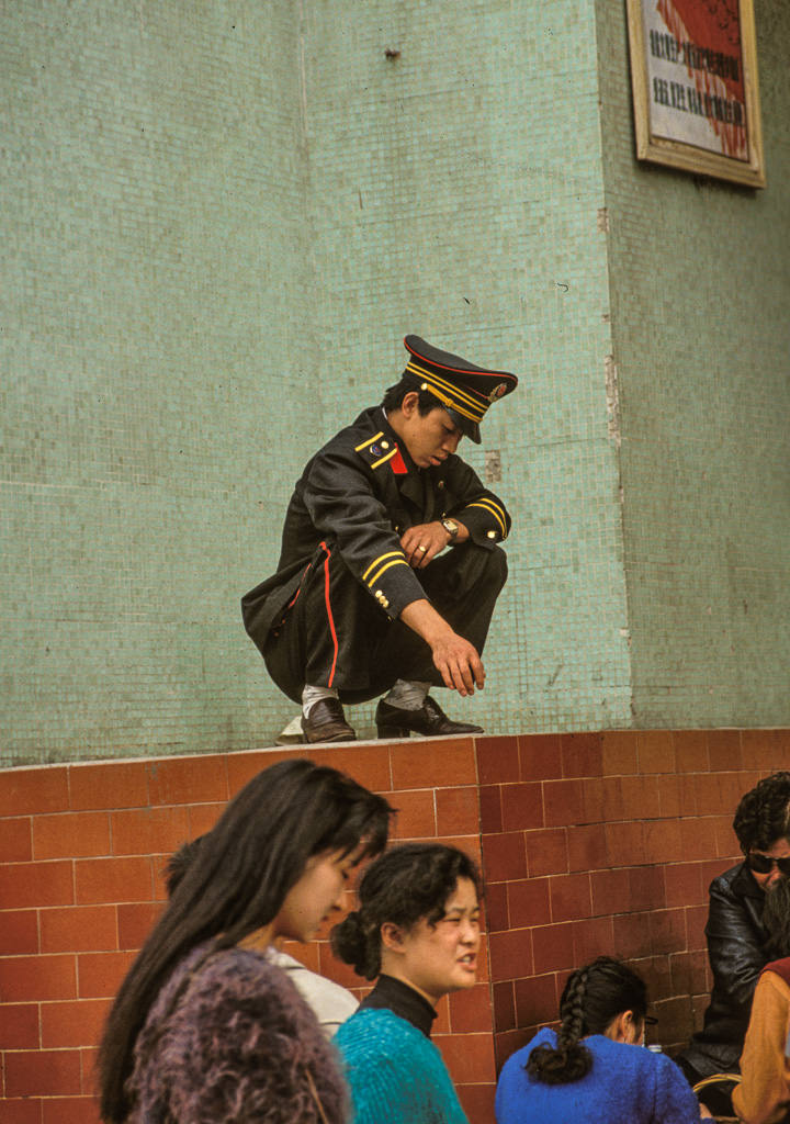 Sleeping soldier Tiananmen Forbidden City
