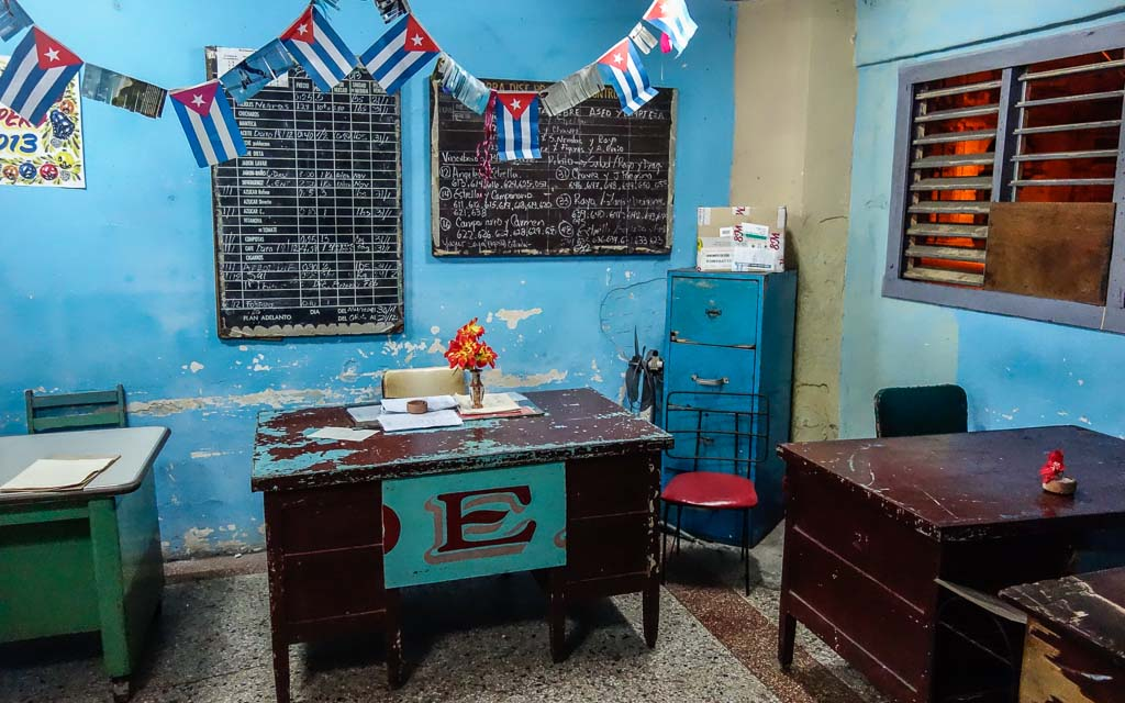 Government office interior Havana Cuba