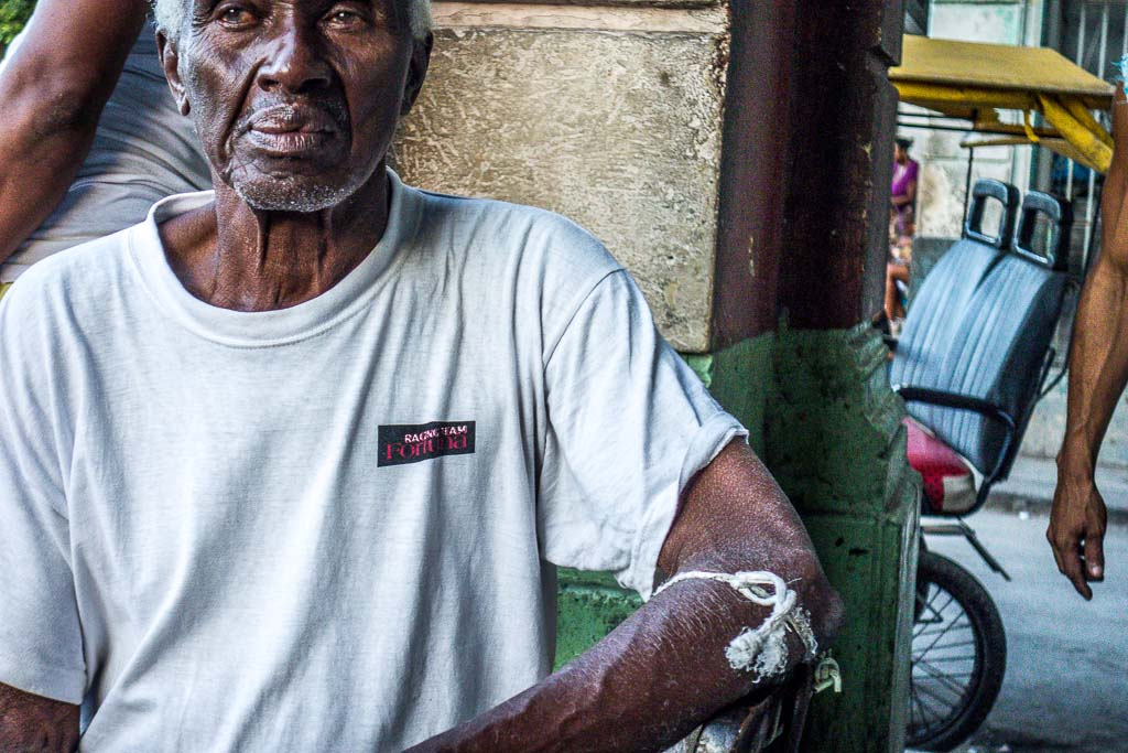 Havana Cuba bicycle taxi driver portrait