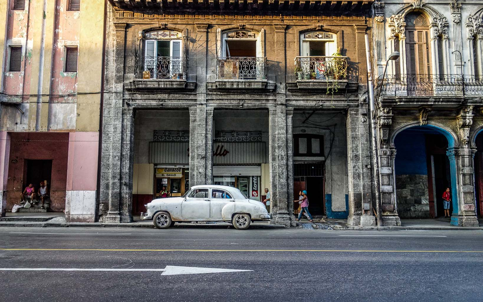 White car in Old Havana Havana Cuba