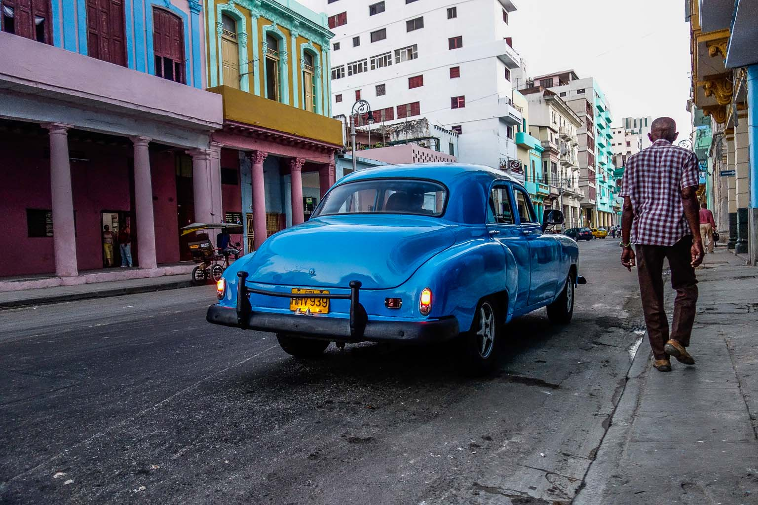 Car parked on Calle Galliano Havana Cuba
