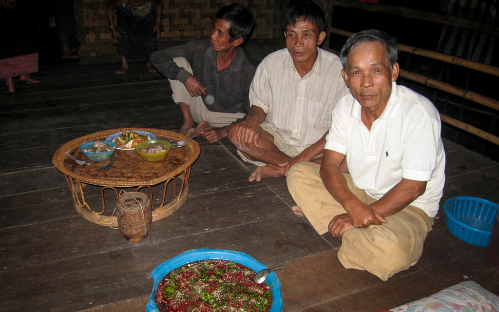 Laotian duck blood