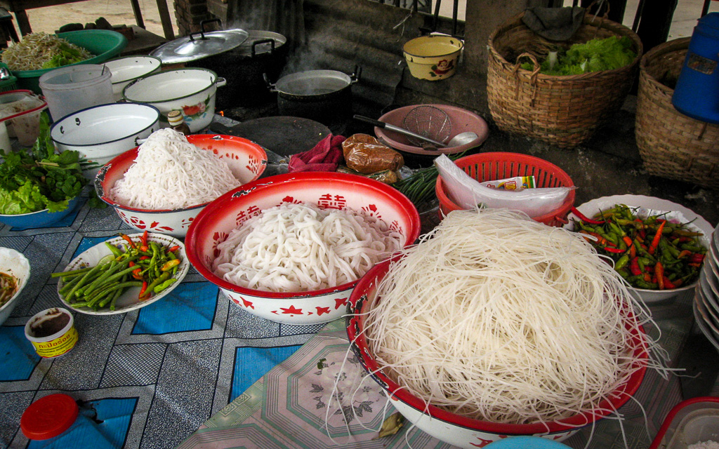 Noodle stall Laotian-Food