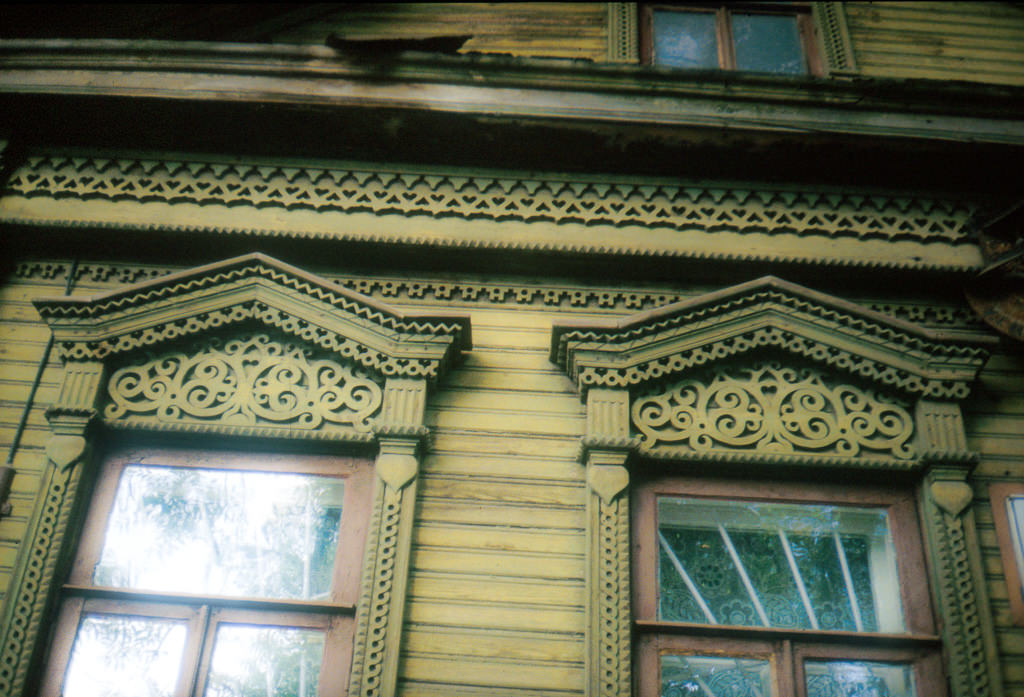 Decorative wooden windows