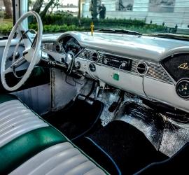 Vintage American car dashboards in Havana, Cuba